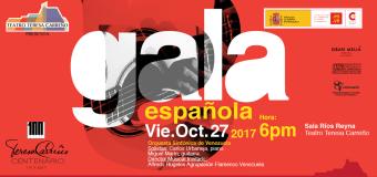 """Venezuela: """"Gala Española 2017"""", se presentará en el Teatro Teresa Carreño"""