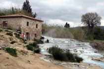 Hot springs in Saturnia
