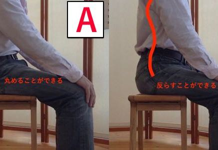 腰の曲げ伸ばし