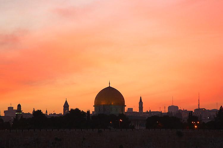 エルサレム オリーブ山 夕焼け