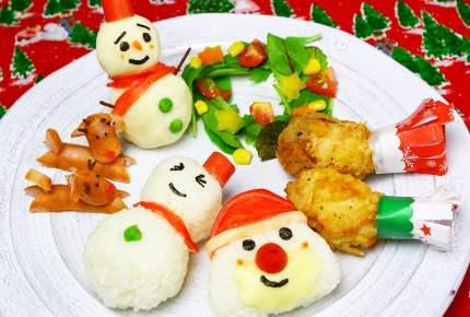 子どもが喜ぶ!クリスマスのワンプレートが可愛い!
