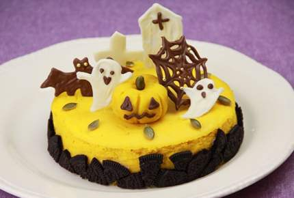 ハロウィンレシピ★かぼちゃのチーズケーキ