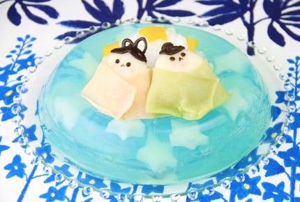 【子供が喜ぶ!七夕レシピ☆織姫と彦星の天の川ゼリー】