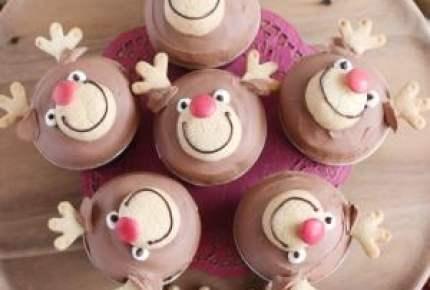 可愛すぎてやばい!クリスマスはトナカイのカップケーキに注目♡