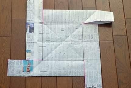 この手もあった!新聞紙で作った型でカステラが焼けた!