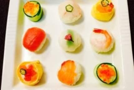 チェック柄が可愛い!簡単モザイク寿司は行楽やおもてなしにぴったり