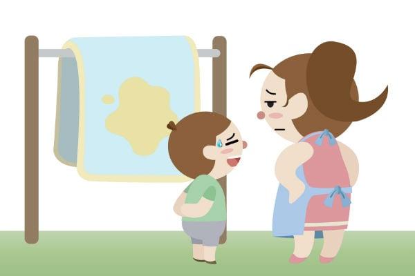 うっかり言ってない?子供のおねしょ卒業を遠ざける、NGな声掛けや行動とは?