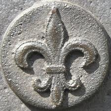 Fleur de lis in stone