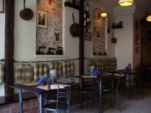 empty trattoria tables