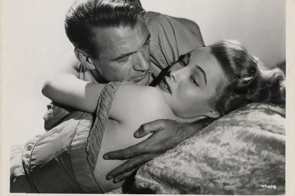 JUST A CIGAR Gary Cooper & Patricia Neal in The Fountainhead_warnerbros