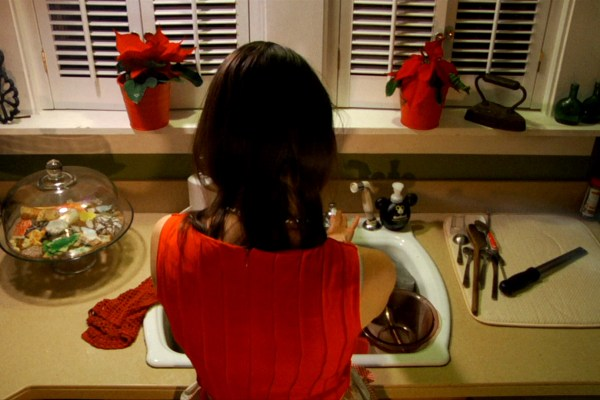 RED DRESS CLOSE