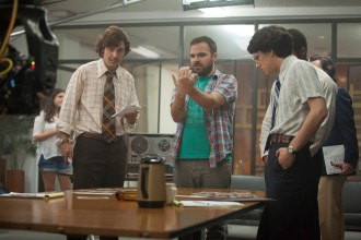 James Wolk with Kyle Alvarez Michael Bennett Gaius Charles and Billy Crudup in TSPE Photo By Steve Dietl for IFC Films