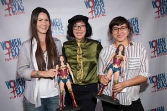 WTxFF 2016 - Awards Presentation (Amanda Milius, Justina Walford, Lizette Barrera) 8.21.16 (Photo by John Strange)