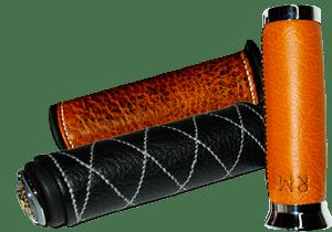 Poignées moto cuir