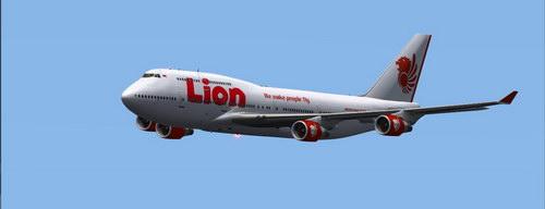 Gambar Pesawat Lion Air sedang terbang