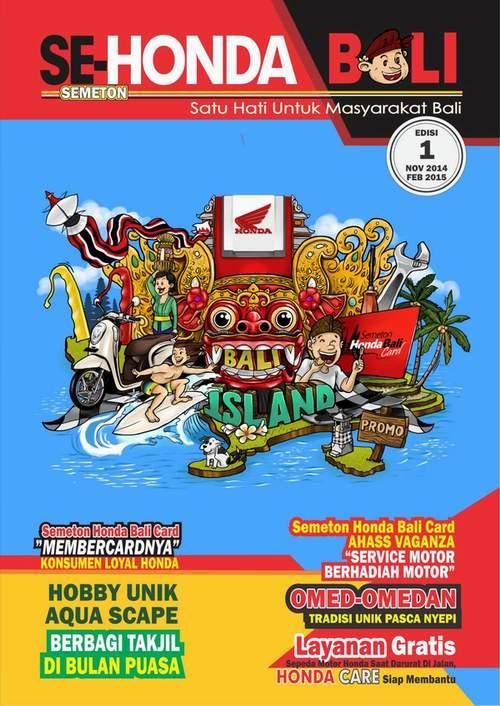 cover majalah semeton honda bali edisi 1