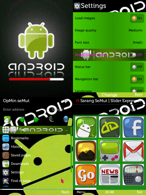 skin OPERA MINI 7.0 android