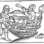 Despite his best efforts, Claus failed to get Hans to recognize the inefficiency of blowgun fishing. #WoodcutWednesday