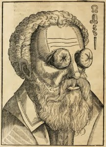 The world turned upside down: A man whose eyes have been turned inward from Bartisch.