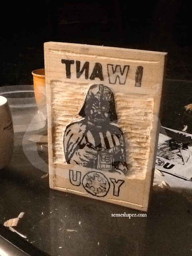 Senseshaper-Darth Vader-I Want You-Carving