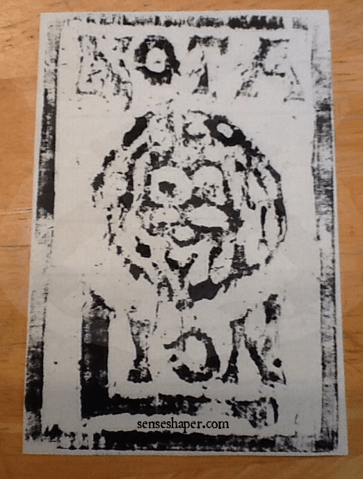 Senseshaper-Woodcut-NotALion-First Print