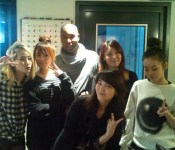 [Photo + Video] Claude Kelly and the Wonder Girls in studio