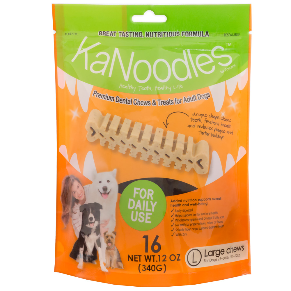 Remarkable Kanoodles Dental Chews Treats Large 12oz 16 Counts 1 Dental Chews Sensitive Stomachs Dental Chews Dogs Australia Dogs bark post Dental Chews For Dogs
