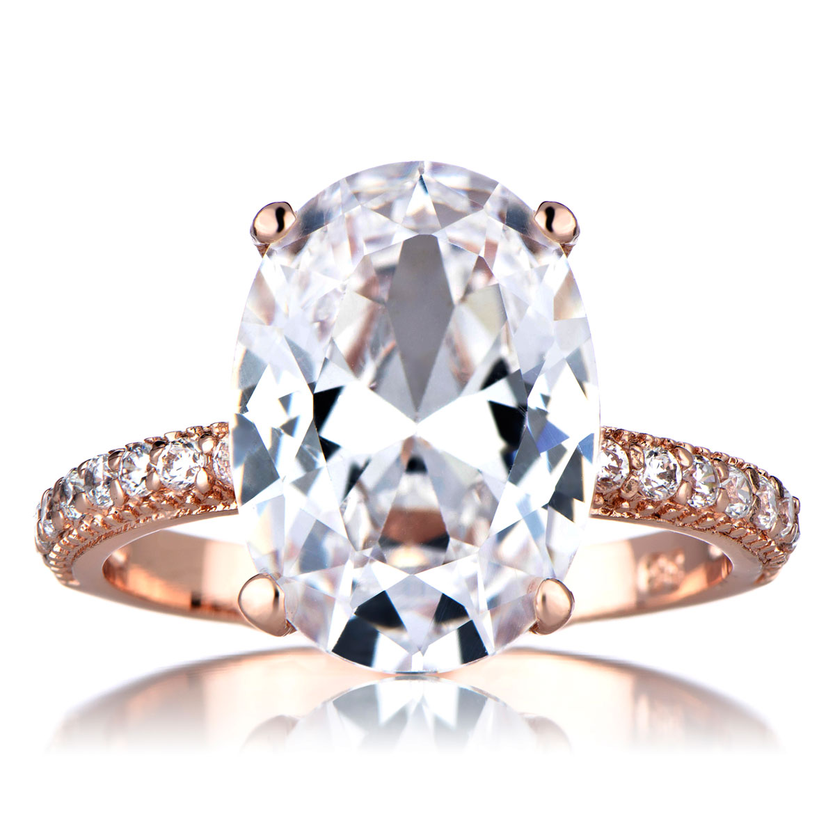 petite solitaire engagement ring in 14k rose gold rose gold wedding rings Petite Solitaire Engagement Ring in 14k Rose Gold