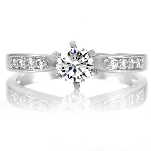 daisyring wedding rings real diamonds Daisy s Silvertone Engagement Ring Roll Off Image to Close Zoom Window