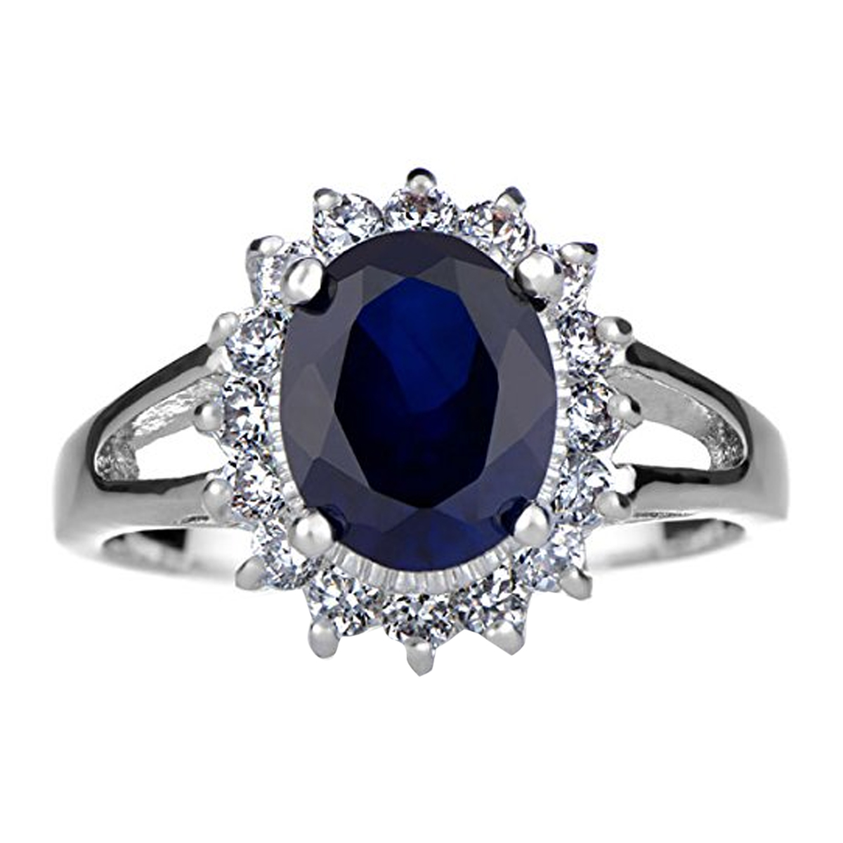 neelam sapphire wedding rings Royal Style Wedding Ring Silvertone Roll Off Image to Close Zoom Window