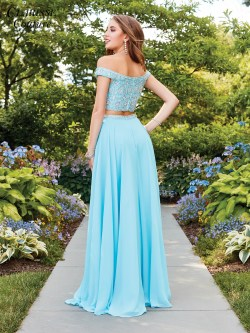 Lovely Off Shoulder A Line Two Piece Dress Clarisse 4938 Back 1 Off Shoulder Prom Dresses A Line Off Shoulder Prom Dresses