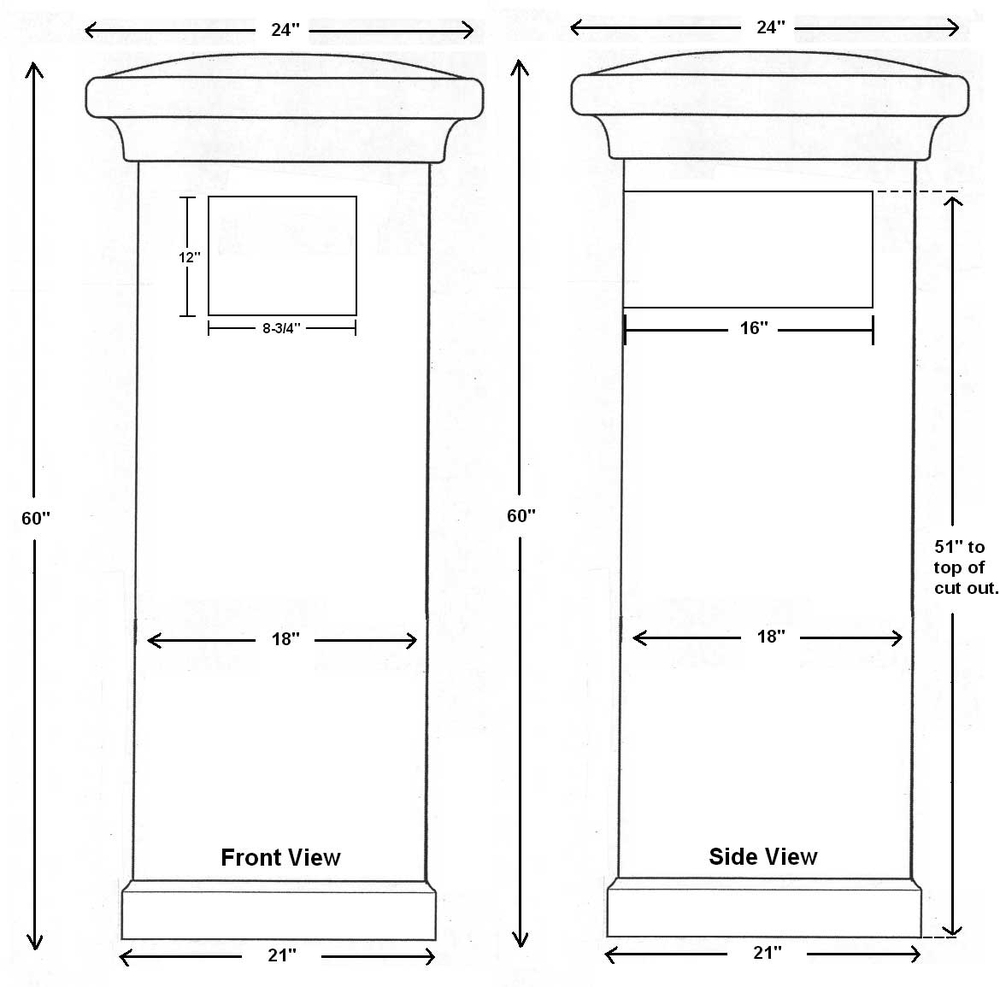 Stucco Column Only For Manchester NonLocking Mount Mailbox   Sandstone Mailbox And Address Plaque Sold Separately Column Mount Mailbox X70