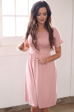 Small Of Dusty Rose Dress