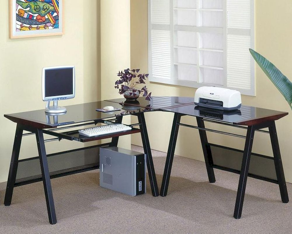 Fullsize Of Desk With Keyboard Tray