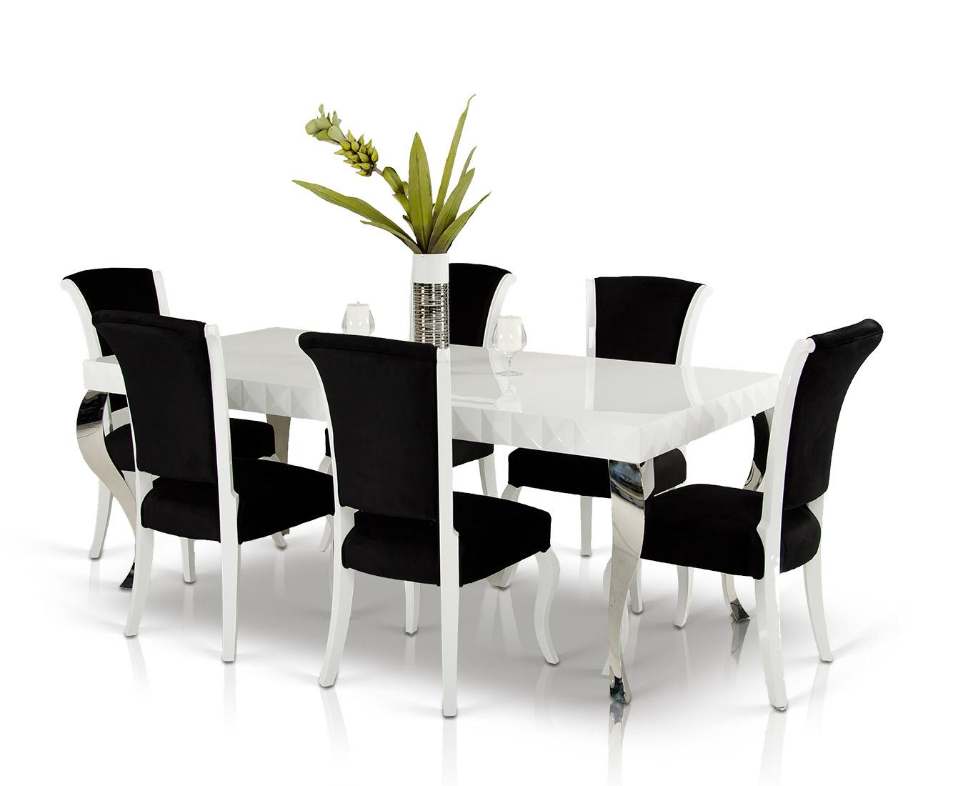 vig vgdvls white kitchen table Versus Mia White Lacquer Modern White Dining Table