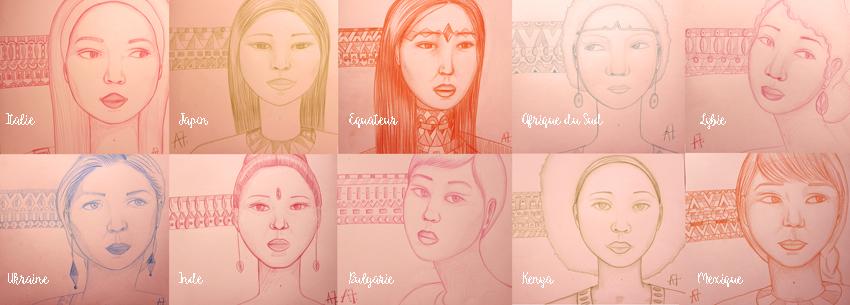Le dessin pour reconstruire // Mujeres del mundo para Ecuador