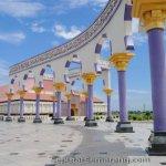pilar berkaligrafi masjid agung