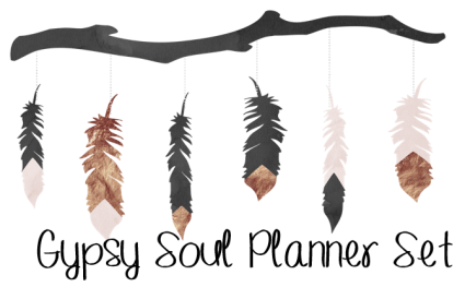 header gypsy soul planner set