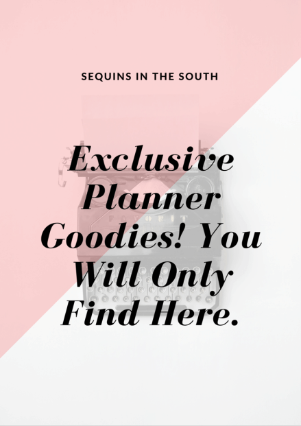 Exclusive Planner Goodies!