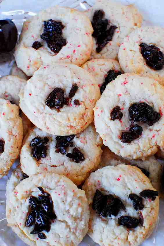 Cherry Chip Cake Mix Cookies & sour cherries6