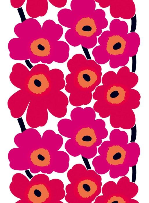 ファブリック ≪ウニッコ≫(ケシの花)、図案デザイン:マイヤ・イソラ、 1964年 Unikko pattern designed for Marimekko by Maija Isola in 1964