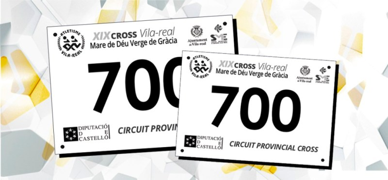 Diseño de dorsales para el XIX Cross de Vila-Real realizados por Serbloc