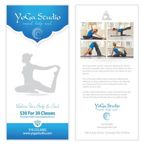 Spa massage flyer template for Yoga brochure templates