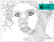 Face In Tree Coloring Page