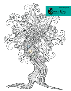 Mandala Tree Coloring Page