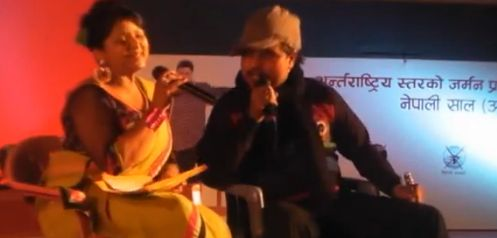 Comedian Deepak Raj Giri and Deepa Shree Niraula