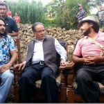 The real Prachanda visits fake Prachanda house and promises help