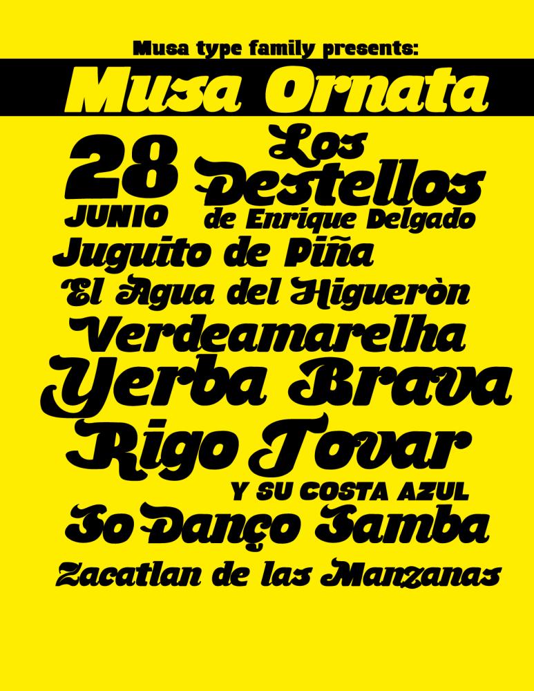 Tipografía Gratis de Junio: Musa Ornata (1/3)
