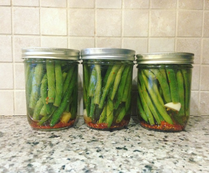 24 Hour Pickled Green Beans | Serious Crust