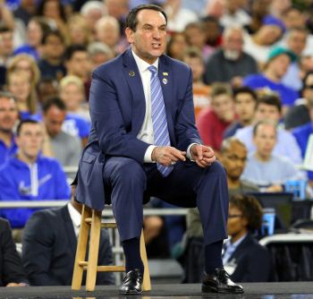 This is what Coach K looks like pooping, in case you were curious.